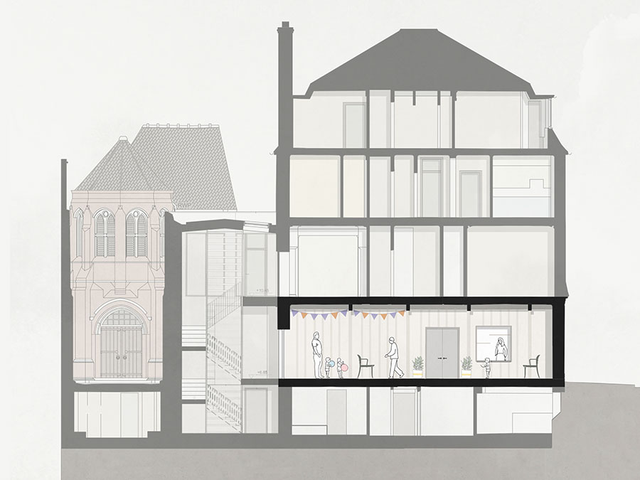 St Marys Bourne Street - architects drawing