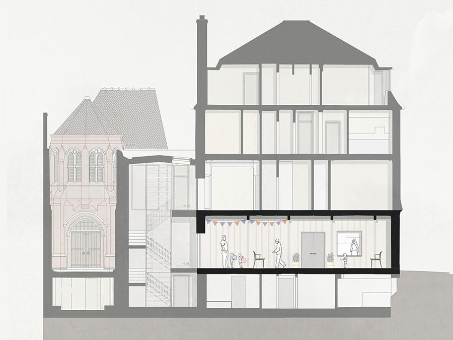 St Marys Bourne Street - architects drawing